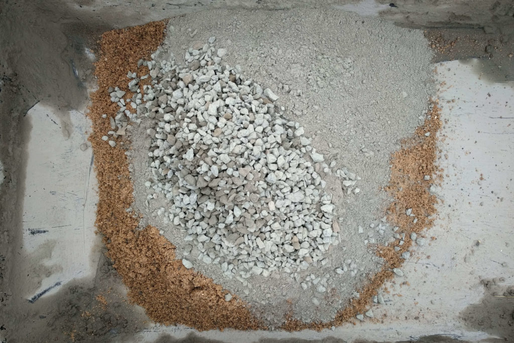 The concrete mix before adding water.
