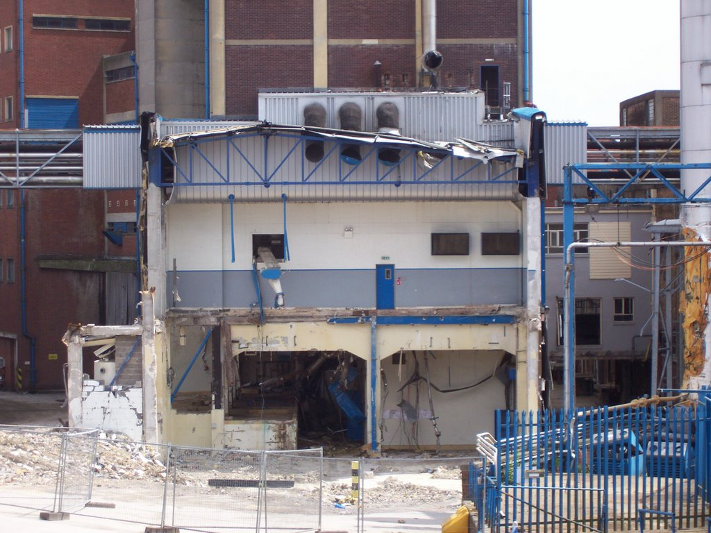 The Scottish & Newcastle Brewery, partially demolished