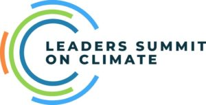 Logo for the Leaders Summit on Climate