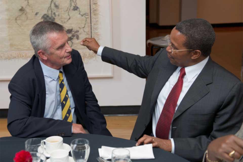 Doctor van Straaten with President Jakaya Kikwete of the Republic of Tanzania